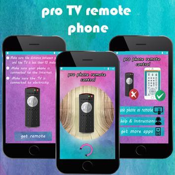 PRO TV  remote control phone poster
