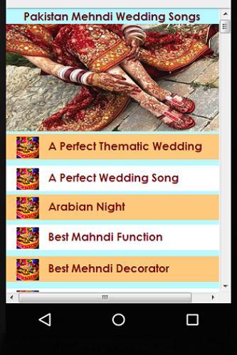 List Of Mehndi Songs
