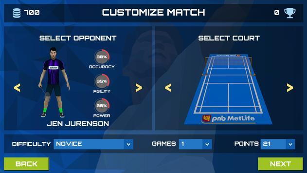 3D Pro Badminton Challenge screenshot 2