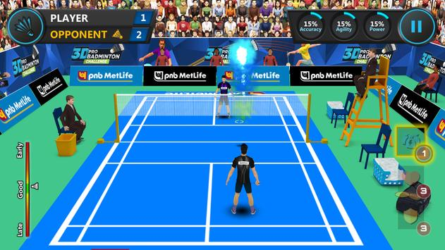 3D Pro Badminton Challenge screenshot 3