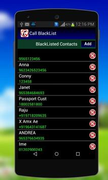 Calls Blacklist - Block Calls screenshot 1