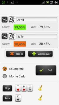 Poker Odds - Range Calculator apk screenshot
