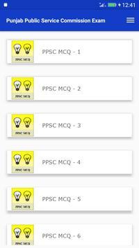 Advance PPSC exam guide apk screenshot
