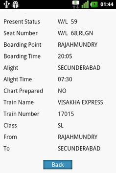 Rail PNR Fast and Easy screenshot 1