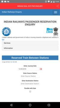INDIAN RAIL lIVE PNR ENQUIRY screenshot 1