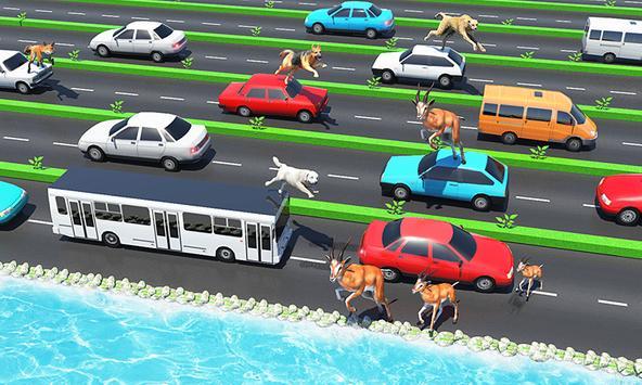 Animal Pets Traffic Highway Cross poster