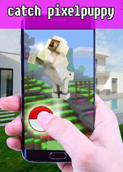 Catch Pixelpuppy Craft Pet Go! apk screenshot