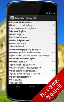 SpeakEasy Italian LT ~ Phrases screenshot 3