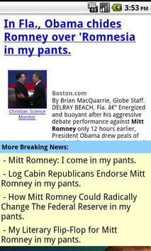 Mitt Romney In My Pants poster