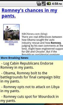 Mitt Romney In My Pants screenshot 1