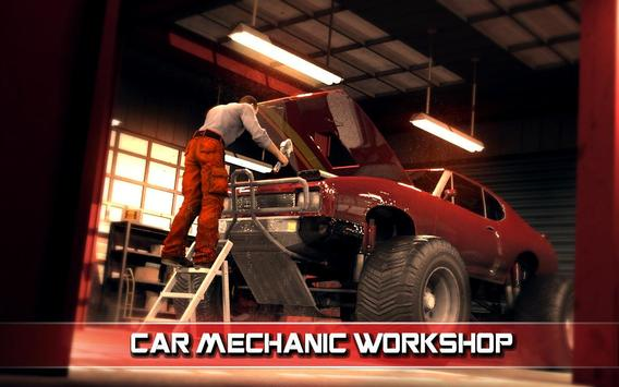 Monster Truck Mechanic Garage poster