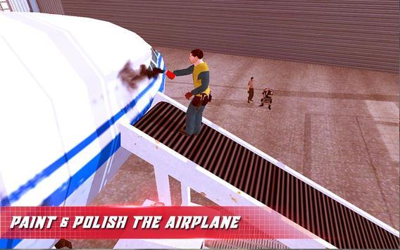 Airplane Mechanic Garage Sim poster