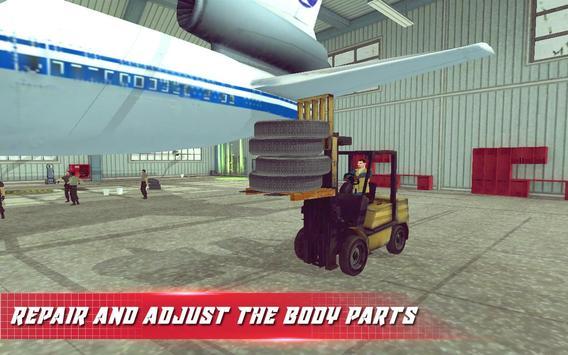 Airplane Mechanic Garage Sim apk screenshot