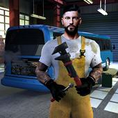 Bus Mechanic Workshop Garage icon