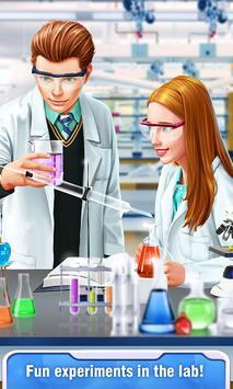 High School Science Girl Salon poster