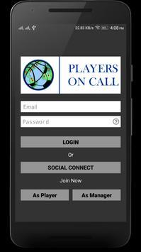 Players On Call apk screenshot