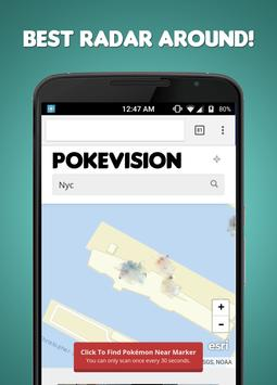 Map for PokeVision poster