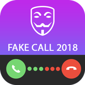 Fake Call Message SMS Incoming from Anonymous icon