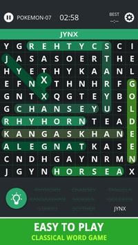 Word Search Topic For Pokemon apk screenshot