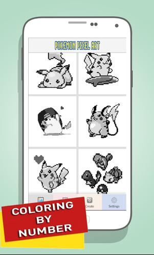 Pikachu Color By Number - Pokemon Pixel Art Games for Android - APK ...