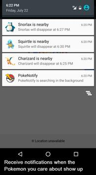 Notifications for Pokemon GO apk screenshot