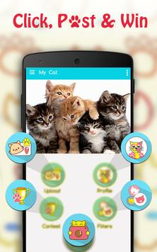Cute Cat Pictures Contest & Photo editor poster
