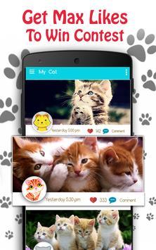 Cute Cat Pictures Contest & Photo editor screenshot 1