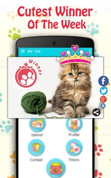 Cute Cat Pictures Contest & Photo editor screenshot 2