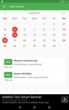 Public Holiday screenshot 2