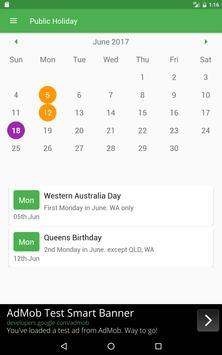 Public Holiday screenshot 3