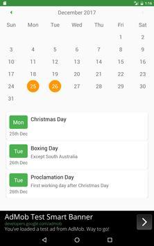 Public Holiday screenshot 4