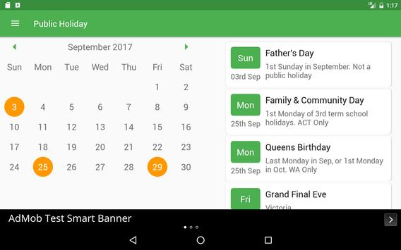 Public Holiday screenshot 8