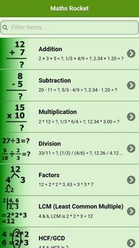 Maths Rocket poster