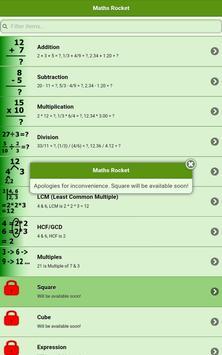 Maths Rocket apk screenshot