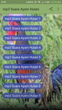 mp3 Suara Ayam Hutan screenshot 1