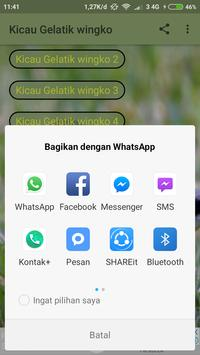Kicau Gelatik Wingko screenshot 1