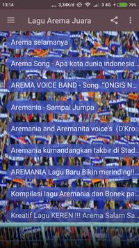 Lagu Arema Juara screenshot 2