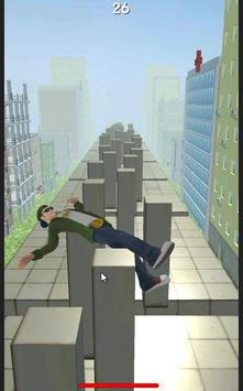 Walking in the top box Parkour poster