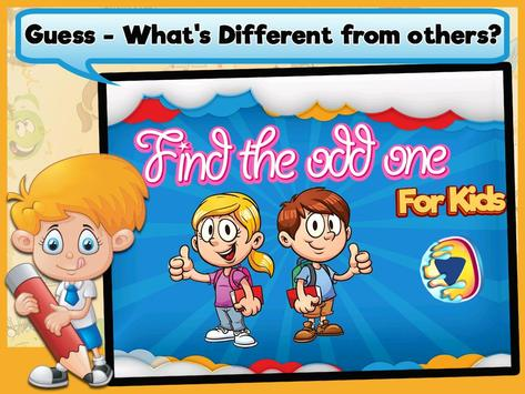 Odd one out games for kids