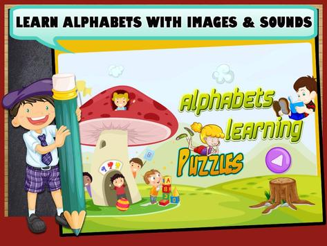 Alphabets Learning Puzzles poster