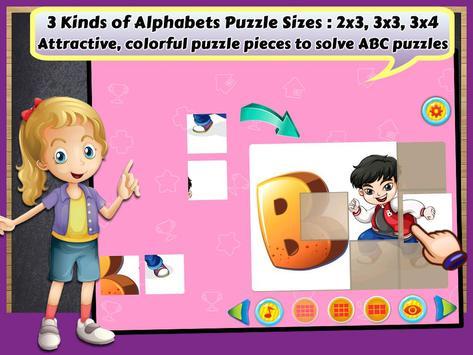 Alphabets Learning Puzzles apk screenshot