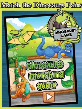 Dinosaurs Match Pairs - Dinosaur Games Free poster