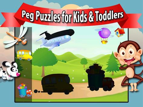 Peg Puzzles for Kids & Toddler poster