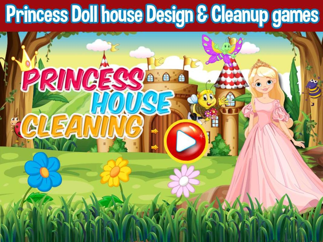 Princess Doll House Cleaning Decoration Games Apk Baixar