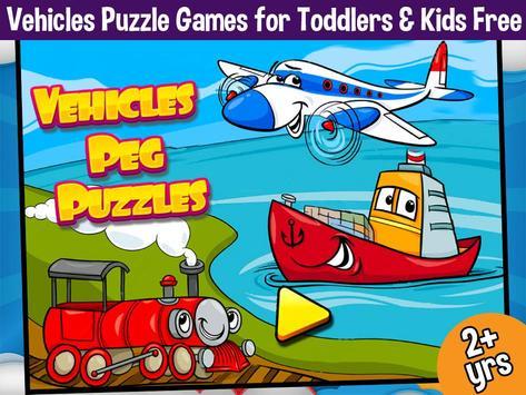 Vehicles Peg Puzzles for Kids screenshot 10