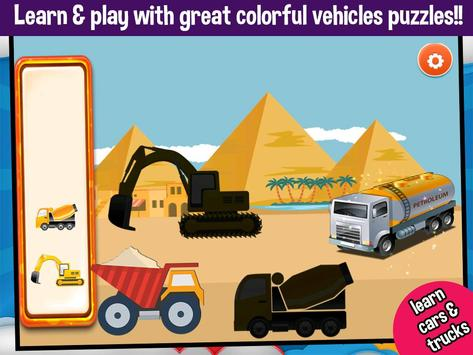 Vehicles Peg Puzzles for Kids screenshot 14