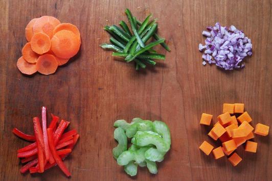 Vegetables Basic Cut. poster
