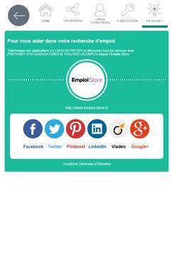 Réseaux sociaux - Pôle emploi screenshot 4