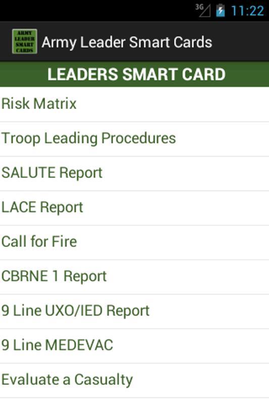 9 Line Medevac Smart Card