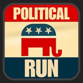 Political Run - Republican icon